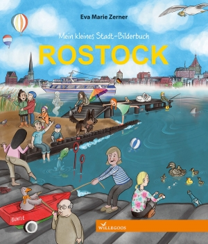 Cover des Stadtwimmelbuches Rostock